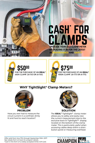 Cash for Clamps Rebate Form